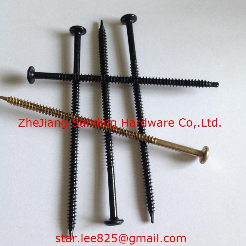 C1022 Pan Head Harden Black Zinc Plated Self Drilling Screw
