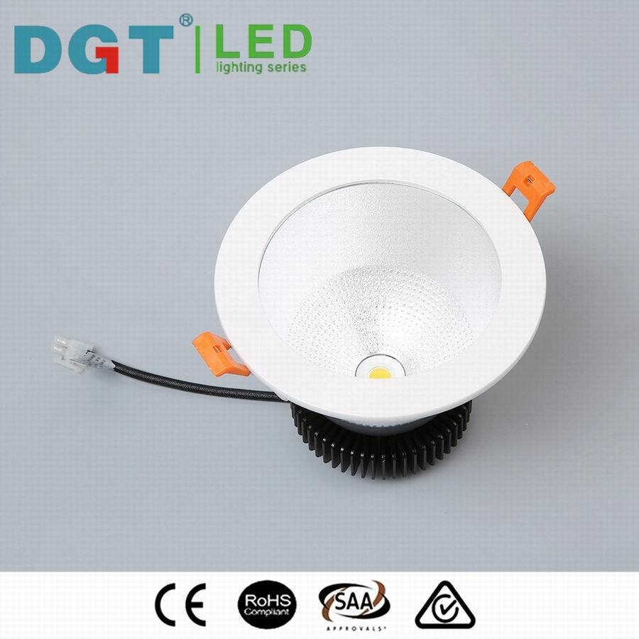 Commercial 12W Dimmable Citizen / Bridgelux LED COB Downlight