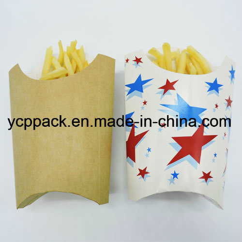 Paper Food Box Kraft White Paper Chips Tray