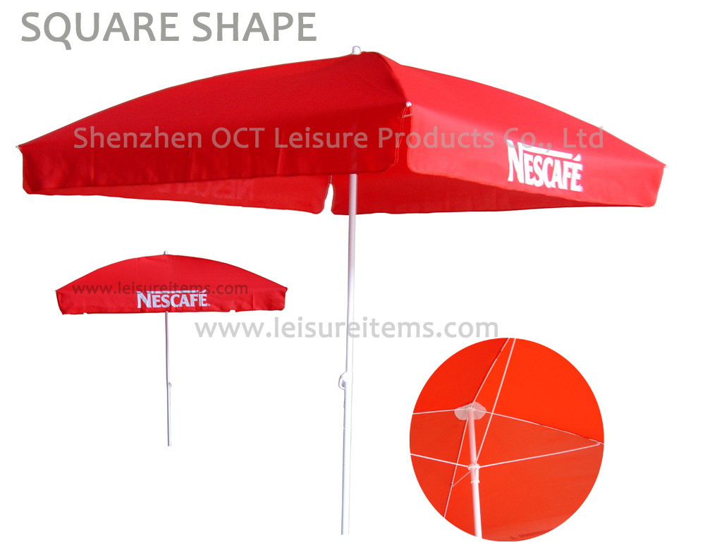 Square Beach Umbrella with 2*2 Meters (OCT-BUNC)
