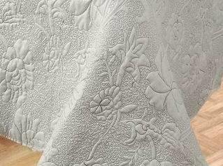Bedding Set Embossed Quilt Solid Color