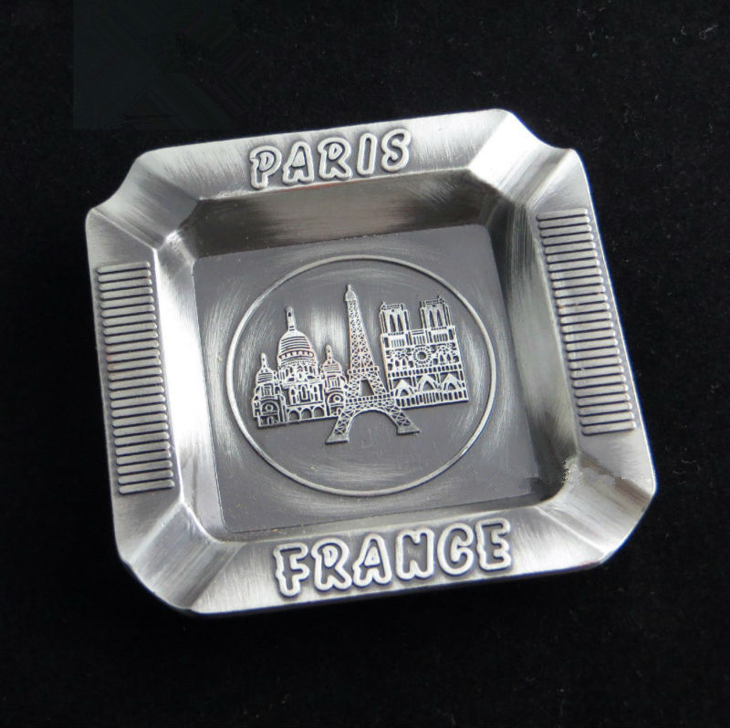Souvenir Tourism Gifts 3D Emboss Engrave Logo Metal Ashtray (B5009)