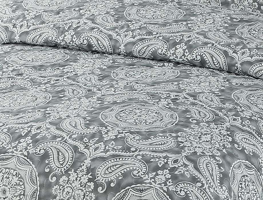 Printed Quilted Pigment Printing Microfiber Quilt/Bedspread/Bedding Set