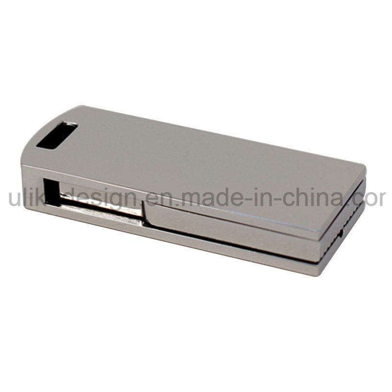 Silver Swivel/Twist Metal USB Flash Disk/ Flash drive with Your Logo