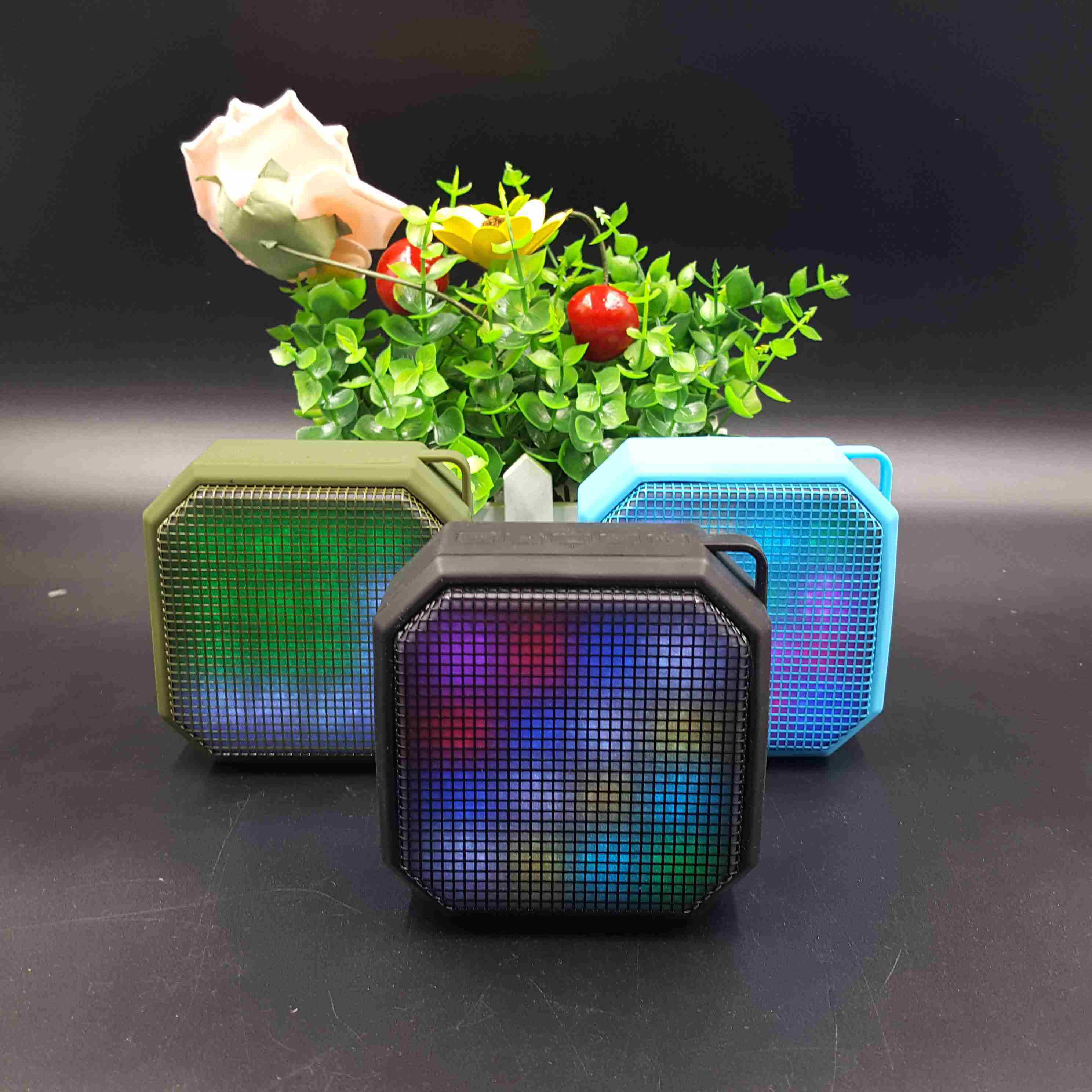 Mini Stereo Audio Sound with Microphone Speakers with LED Light