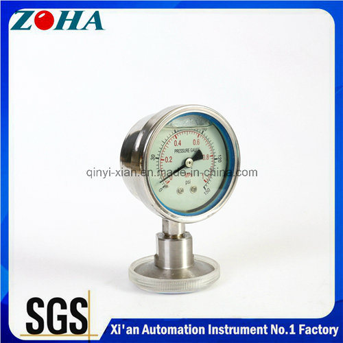 Absolute Pressure Gauge with Diaphragm, All Stainless Steel
