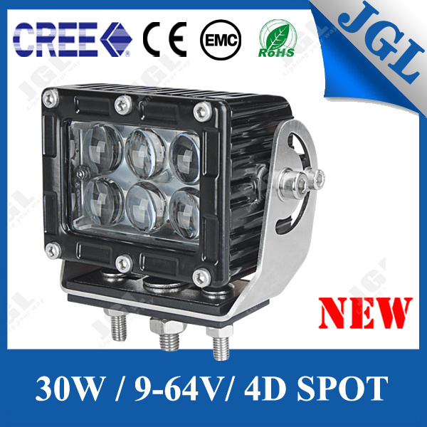 Spot 30W LED Work Light 4X4 Vehicle CREE 5W Lighting