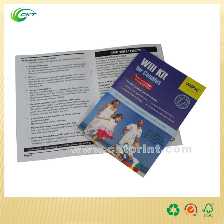 China Shenzhen Cheap Book Catalog Brochure Magazine Printing with Plastic Bag (CKT-BK-009)
