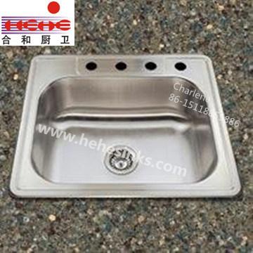 Stainless Steel Sink, Kitchen Sink, Topmount Sink, Bar Sink (6456)