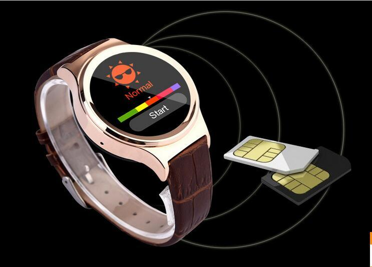 Bluetooth Smart Watch with Heart Rate UV Detection Wristwatch SIM TF Card Smartwatch