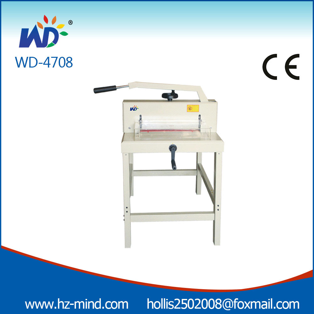 Professional Manufacturer A3 Size Wd-4708 Manual Paper Gullotine