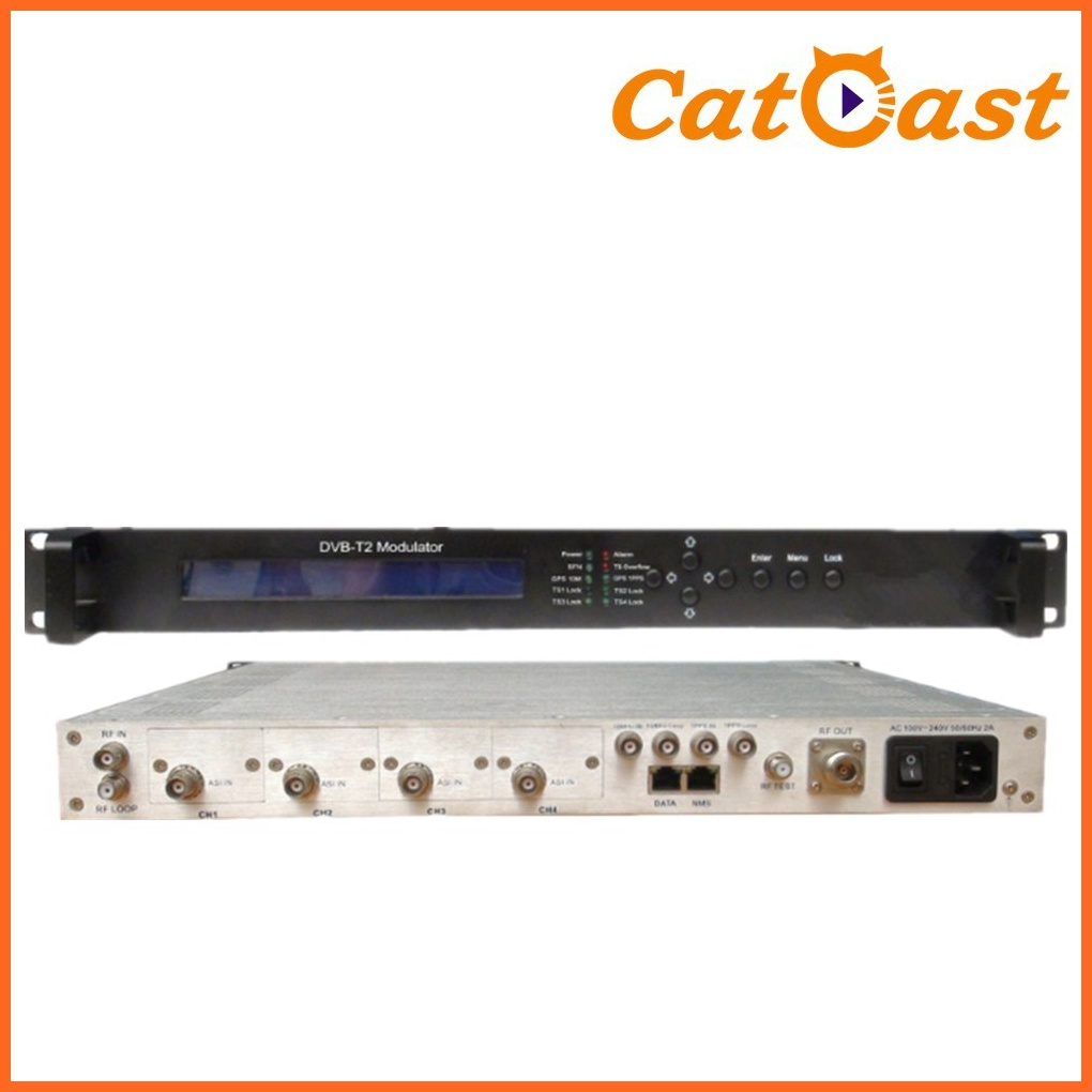 DVB-T2 with Asi and IP Input Modulator with RF out