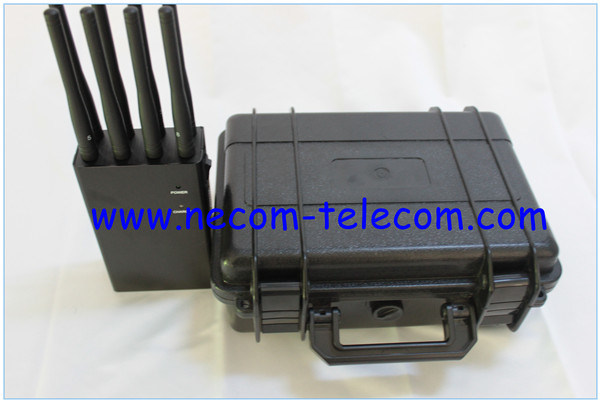 cell phone jammer Delaware - China GPS, WiFi, 4G, Lojack/Xm, Phone Jammers, Cell Phone Jammer and GPS WiFi VHF UHF 4G RF433 8 Antenna Wireless Signal Alarm Jammer with Portable Cases - China Jamming for 2g/3G/4G All Type Cellphone and Wif, 8 Antennas Jammers