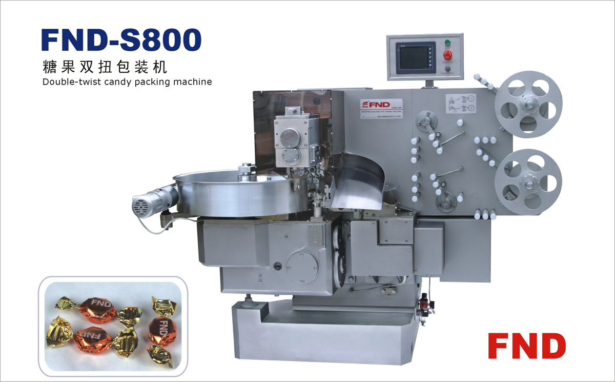 Double Twist Candy/Toffee Wrapping/Packing Machine (FND-S800)