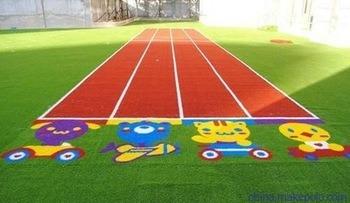 Colorful Running Track, Artificial Grass, for Kindergartner