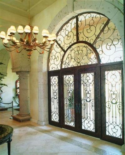 2016 Modern Exterior Wrought Iron Door for Villa Entry Front Door