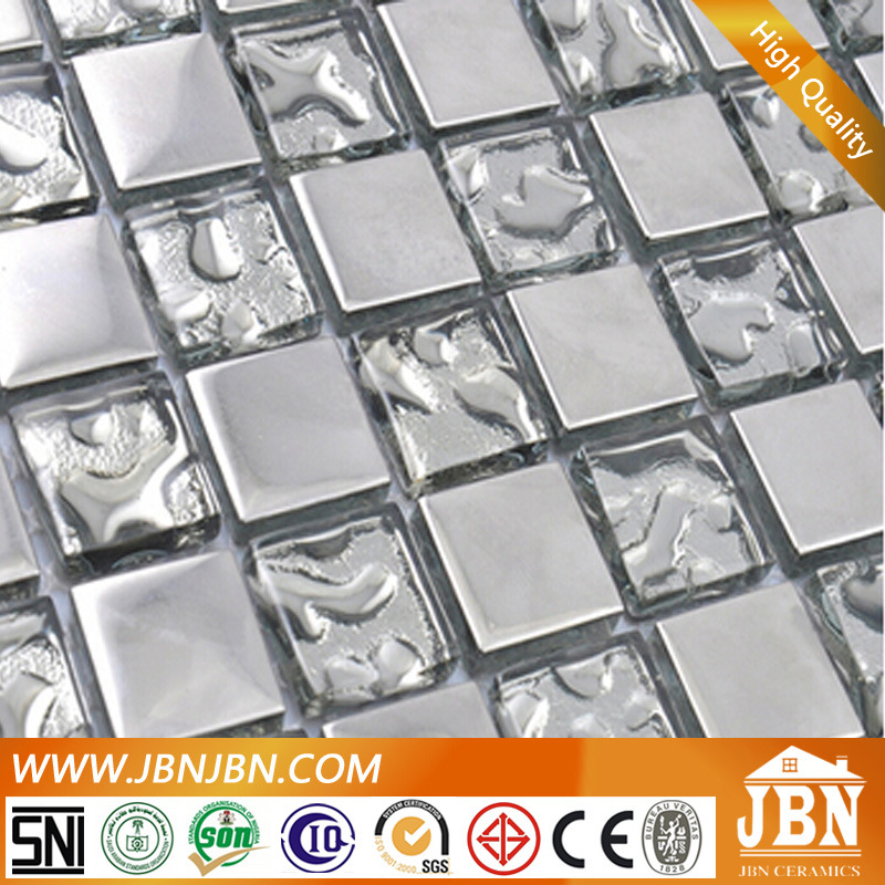 Golden and Silver Plated Glass Mosaic for Living Room (G623002)