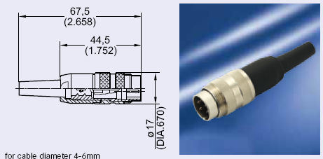 M16 Male Cable Side Connector