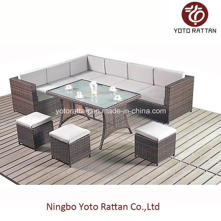 Steel Table Corner Sofa Set 1003 Grey