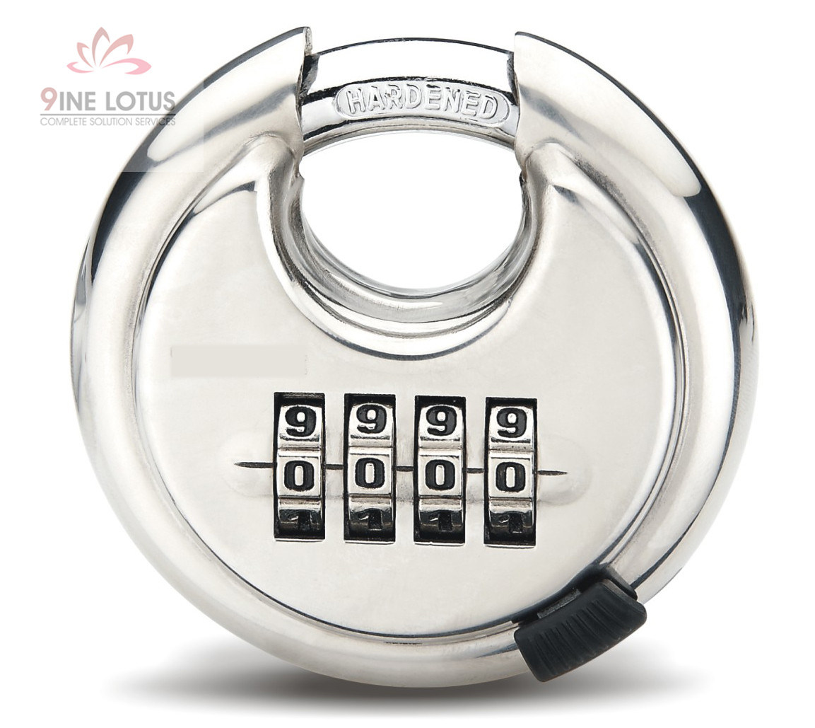 High Quality Stainless Steel Disc Combination Padlock