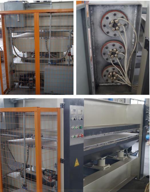 Man Made Board/ Particle Board/ Plywood Building Size Hot Press Machine / Ligne De Production Bois MDF