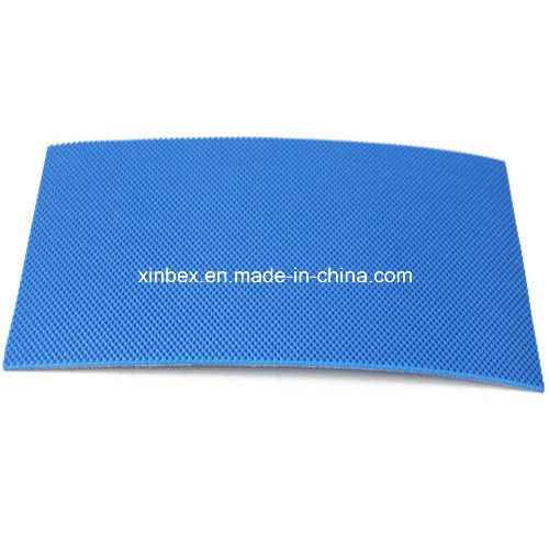 Food Grade PU Diamond Pattern Blue Conveyor Belt