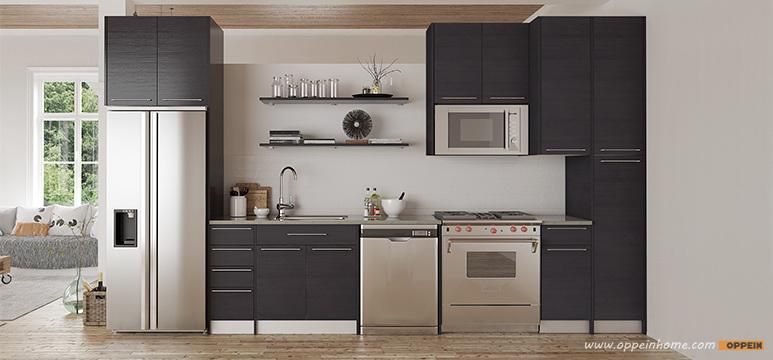 Modern Melamine Modular Wholesale Wood Kitchen Units Furniture (OP15-M12)