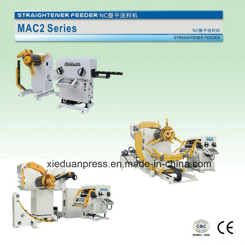 Stamping Production Line, Straight Side Press, 3 in 1 Servo Straightener Feeder
