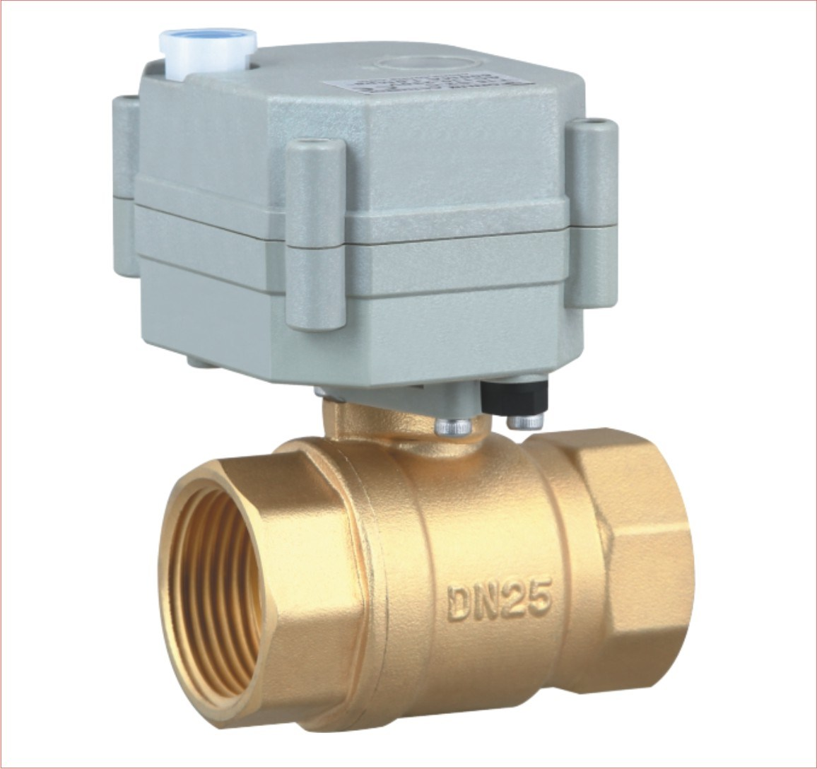 1′′ 2 Way Brass Motorized Water Ball Valve Approved Ce, RoHS