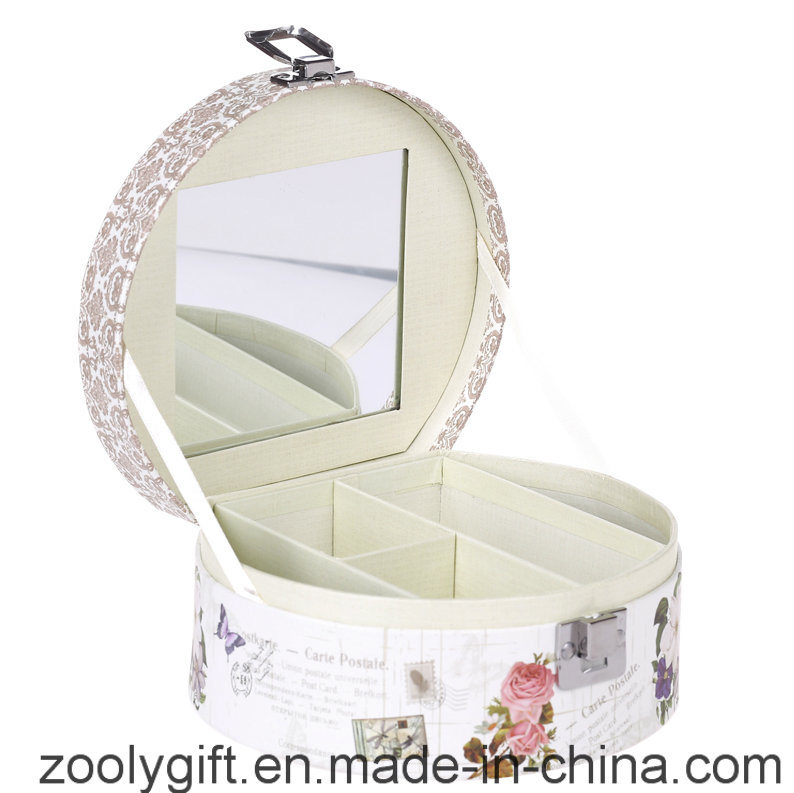 Printed Cosmetic Gift Box / Promotional Paper Music Box with Mirror and Lock