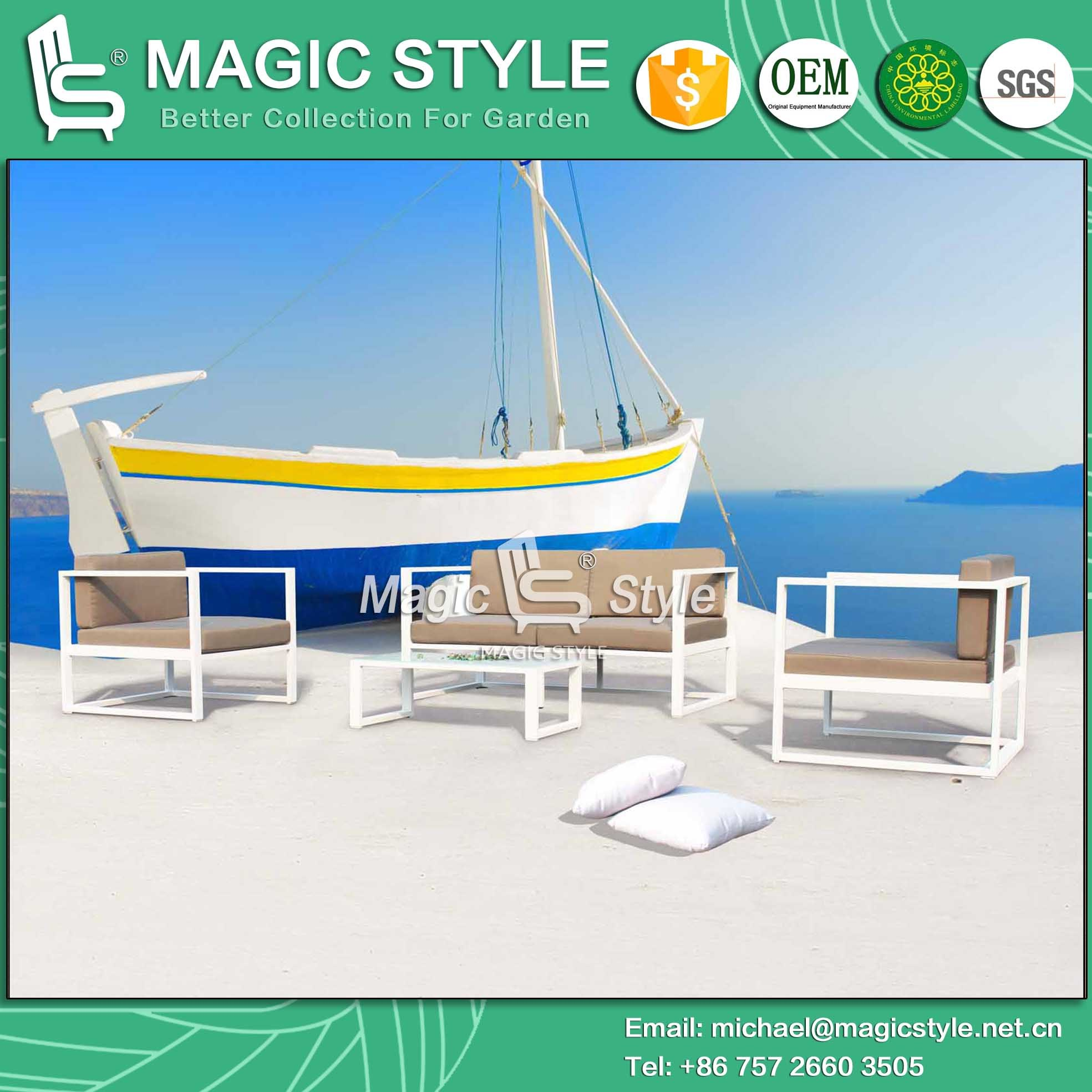 Aluminum Sofa Outdoor Furniture New Design Sofa Patio Sofa Garden Sofa Hotel Project Combination Sofa Set Leisure Sofa (Magic Style)