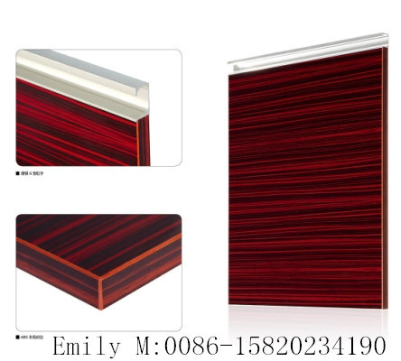 Wood Grain Kitchen Cabinet (ZHUV factory)