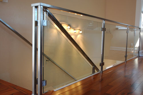 Frameless Tempered Glass Stainless Steel Railings Baluster Railing