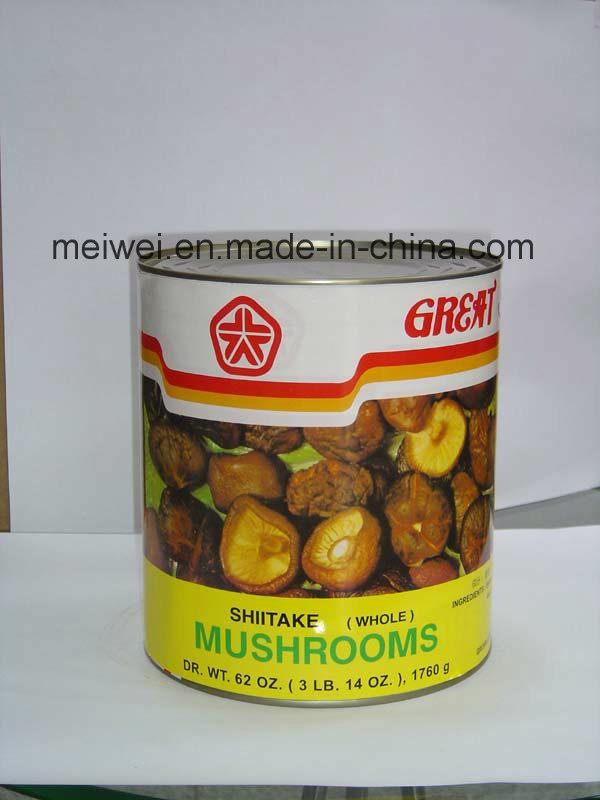 Best Quality Canned Whole Shiitake Mushroom