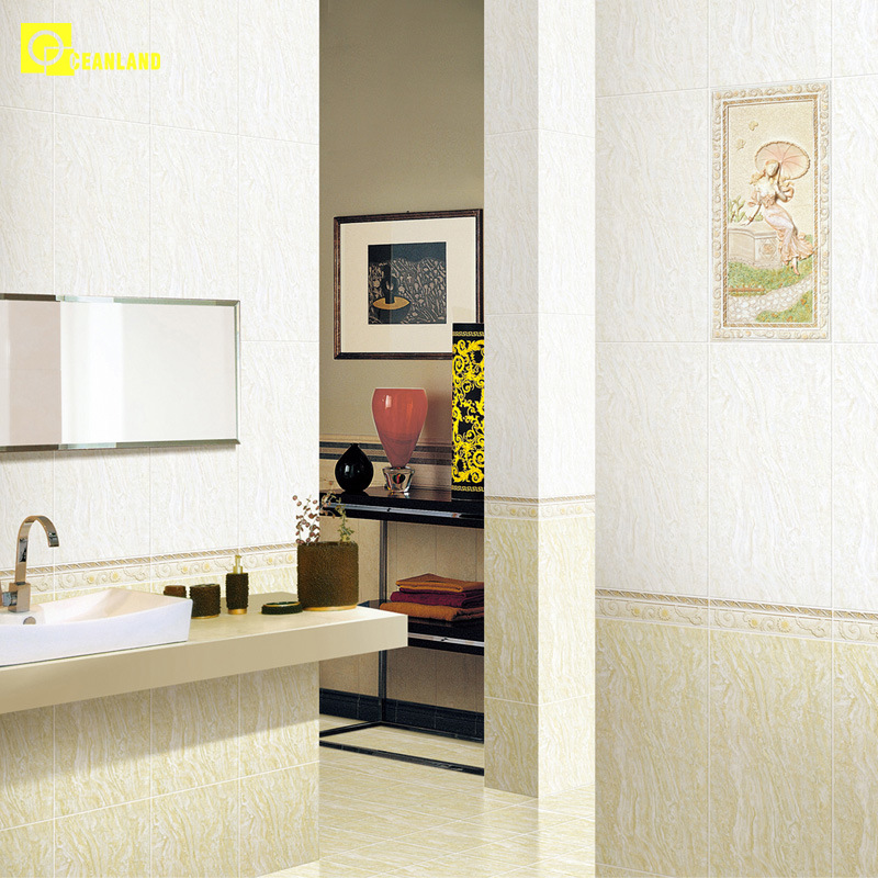 Hot Saled Online Beautilful Bathroom Tiles Border as Gallery