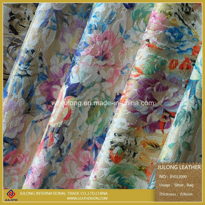 Printing Flower Mesh Fabric (BY012)