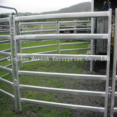 2.1m 6 Oval Rails 70*40/50*50mm Cattle Yard Panels