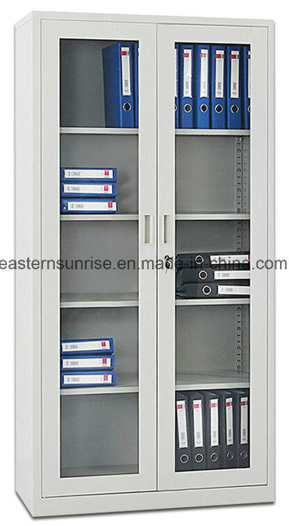 Metal Steel Iron Siling Glass Door Office Use Filing Cupboard/Cabinet