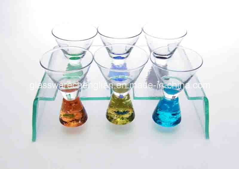 Set of 6PCS of Shot Glass with Support (B-STG013)