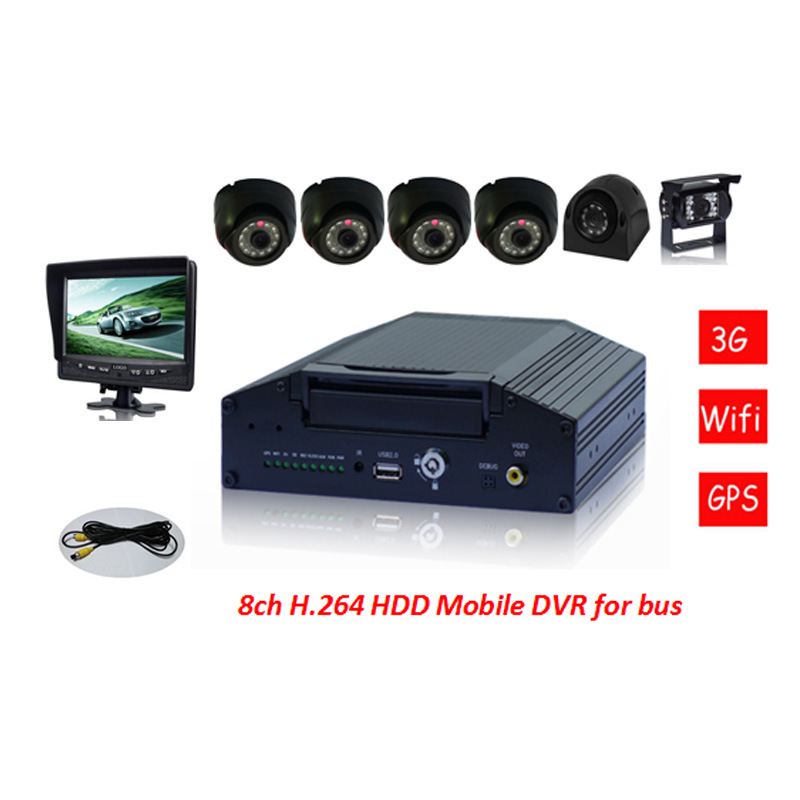 8CH H. 264 3G Network Mobile Car DVR