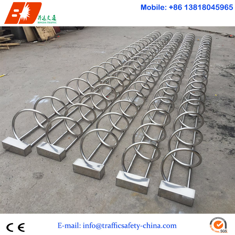 2m Length for 5 Bicycles Carton Steel Bike Parking Stand