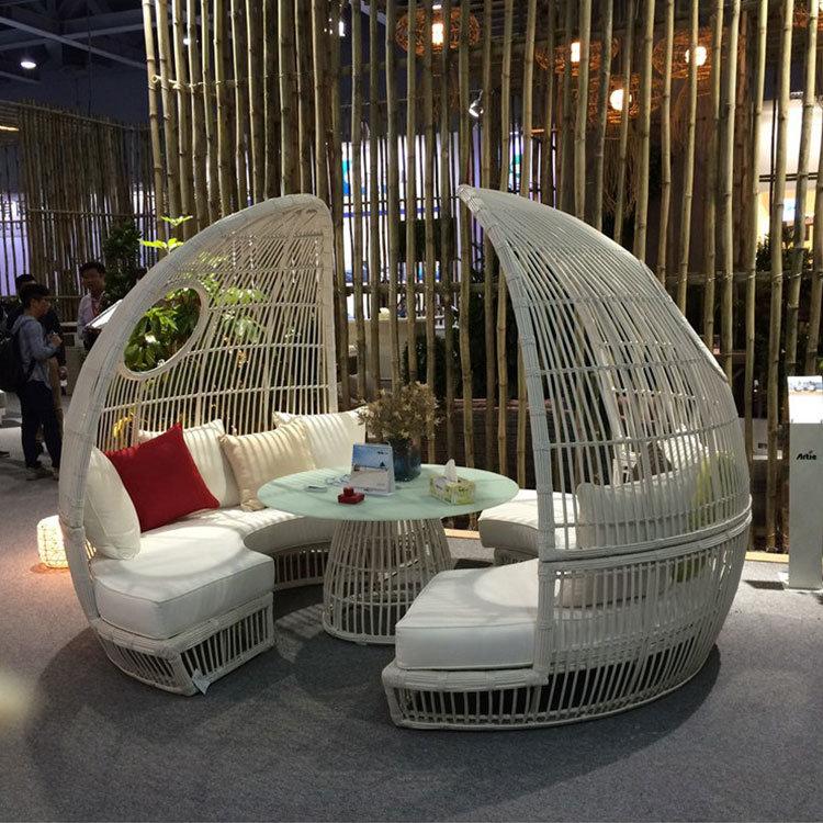 2017 Round Dome Outdoor Rattan Sofa, Sofa Cloth S206