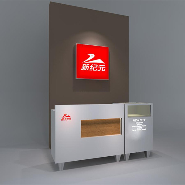 Retail Shop Checkout Counter and Sign Wall