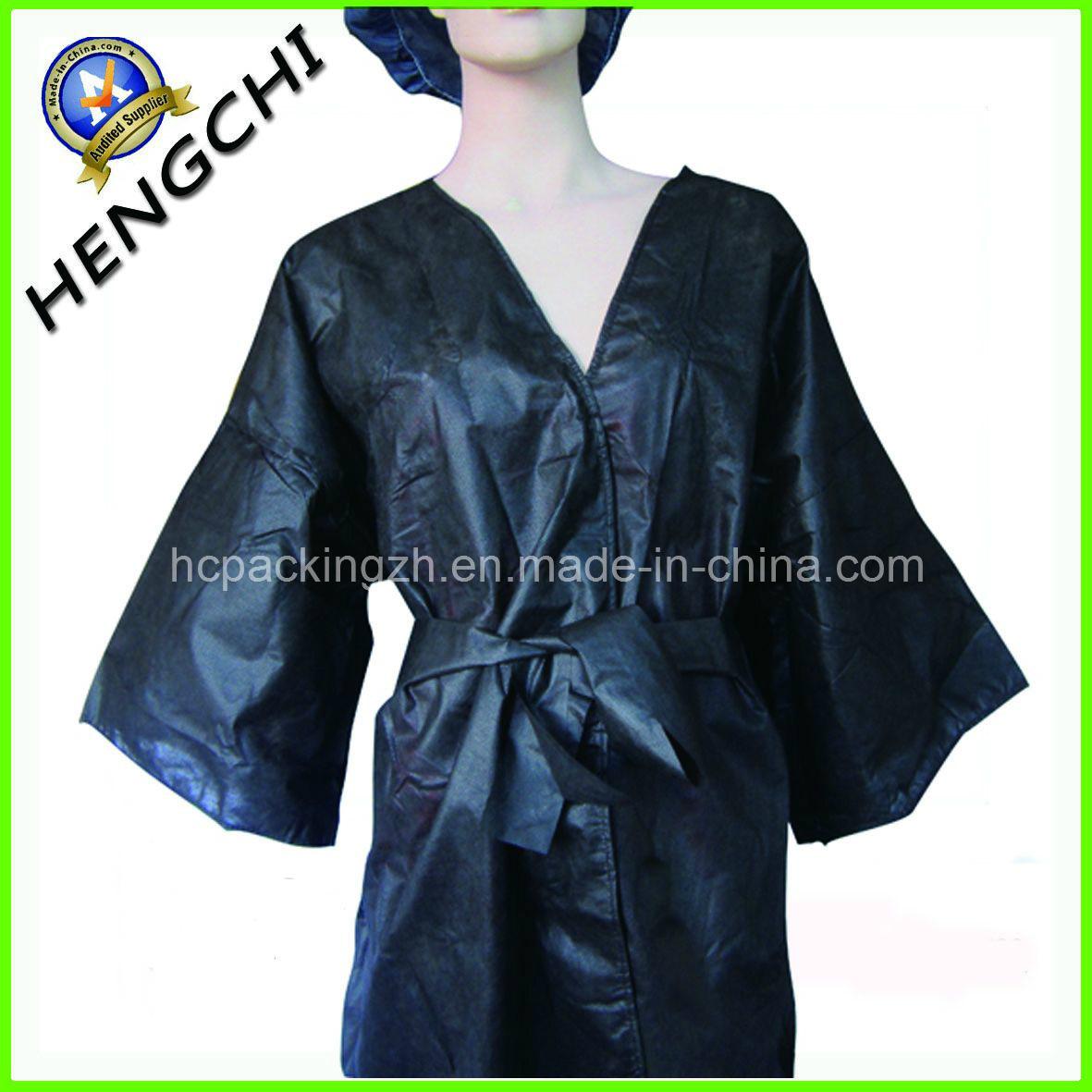 Disposable Non Woven Kimono/Sauna Suit/Bathrobe (HC0193)