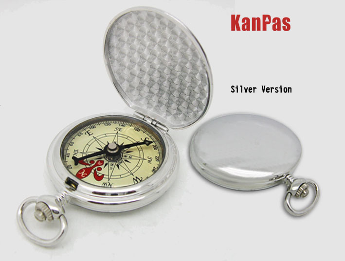 High Quality Metal Pocket Compass with Automatically Opening Lid #N-Z-35