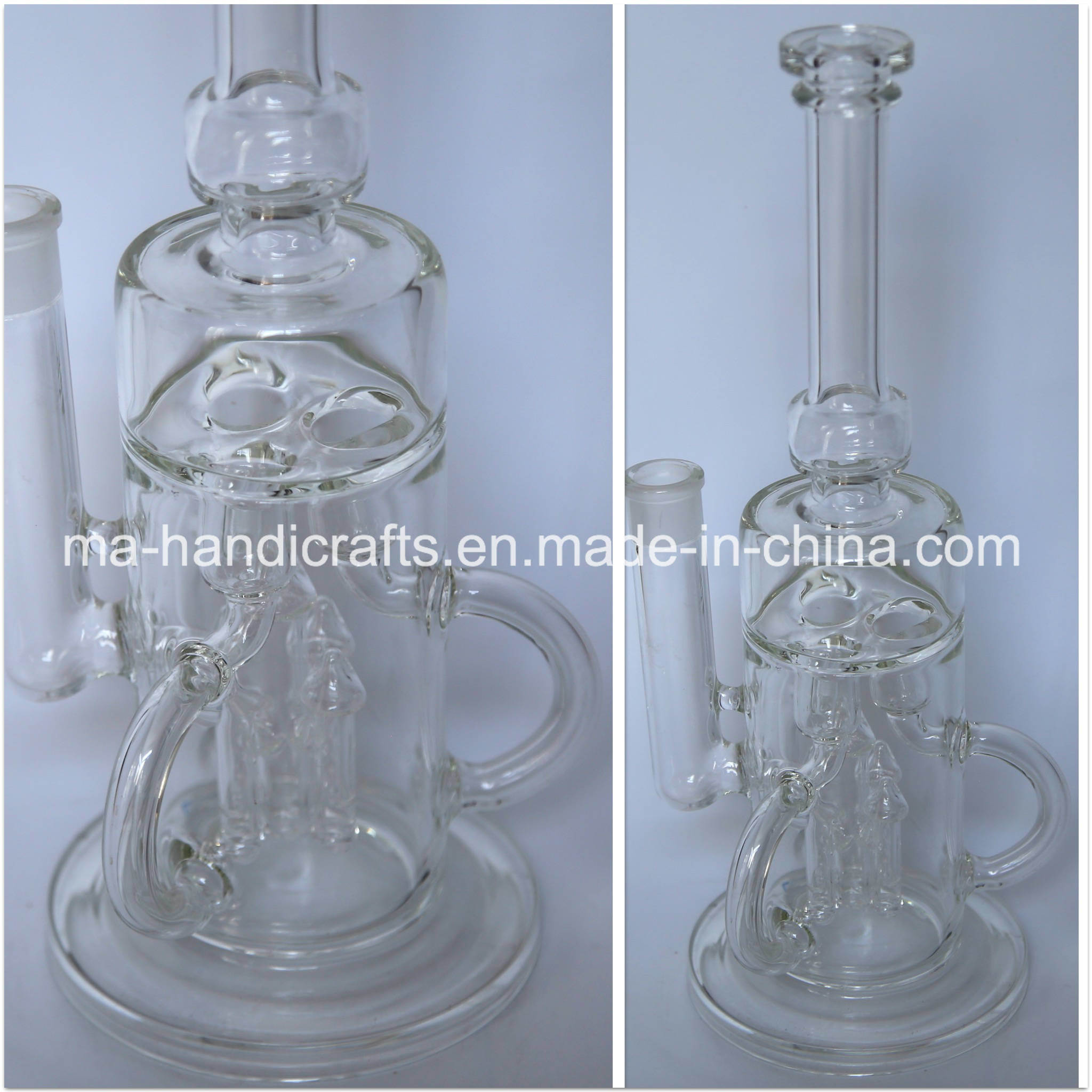 """14"""" Recycle Smoking Bubbler Glass Water Pipes Tobacco Pipe"""