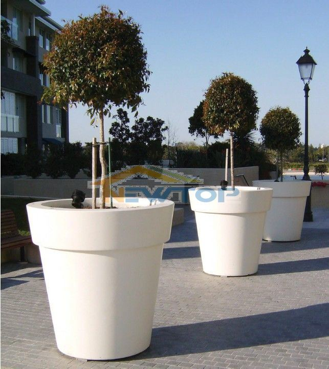 china outdoor planters flower pot grc planters frp