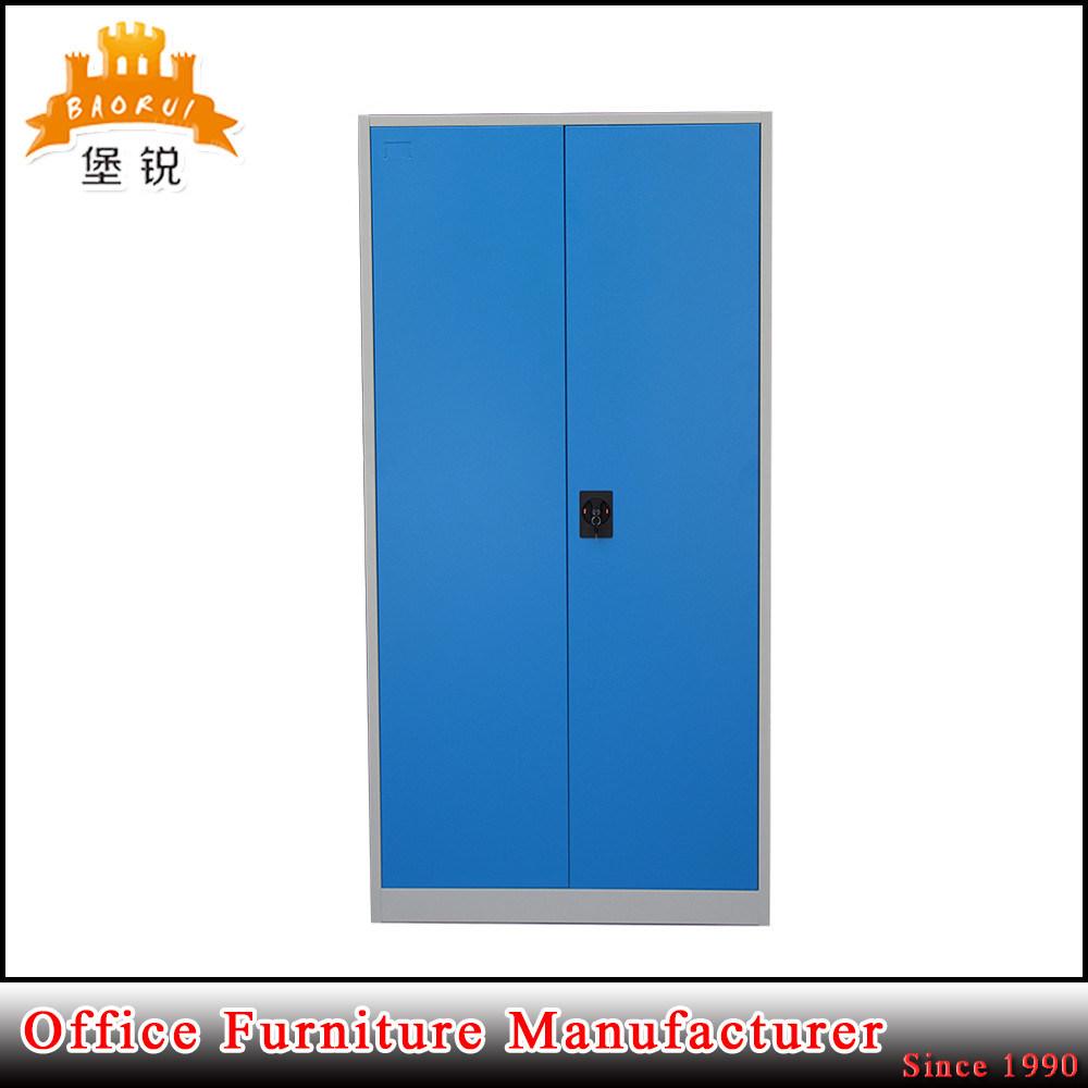 2 Swing Door 4 Adjustable Shelves Steel Storage File Cabinet Cupboard