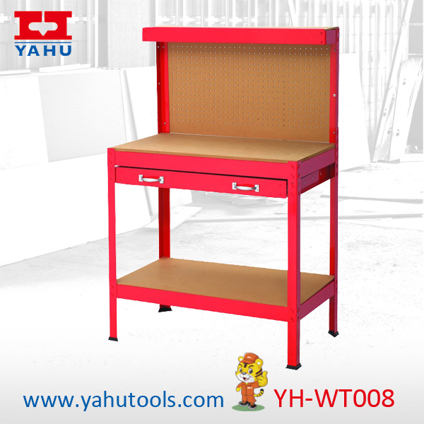 Work Table with Peg Board and Storage Shlelf (3 Feet)