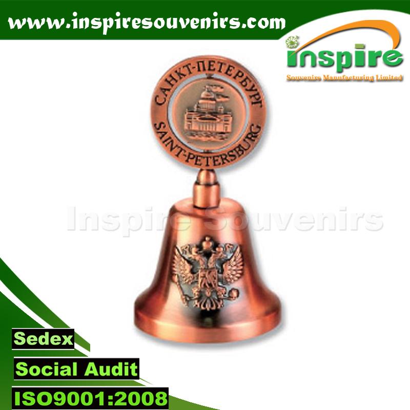 Metal Dinner Bell Souvenirs for Customized Logo; Souvenir Bell